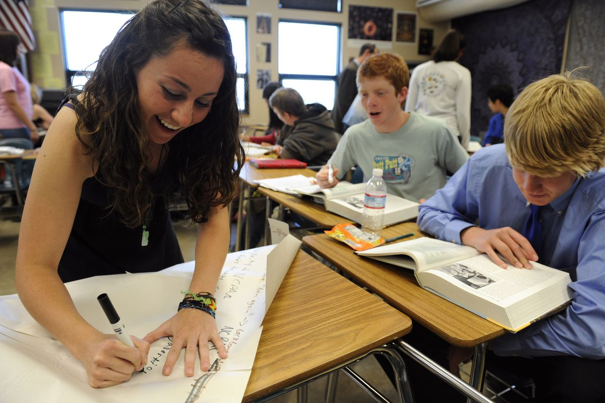 Juniors in an AP U.S. History class in Lafayette, Colorado. (Photo By Kathryn Scott Osler/The Denver Post via Getty Images)
