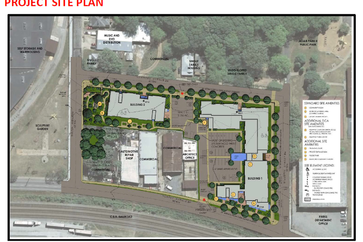 A broader view of planned uses for the Murphy Avenue site.