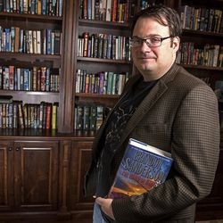 Brandon Sanderson, photographed at his home in American Fork on Thursday, Sept. 29, 2016, has written over 40 fantasy books and is always working on his next book. He sold his first book in 2003 and now has books being enjoyed by readers around the world.