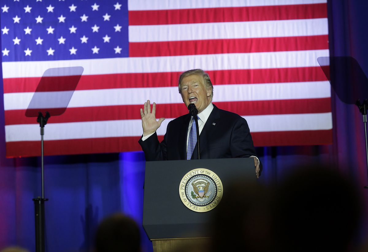 President Trump Speaks On Tax Reform At The Indiana State Fairgrounds And Event Center