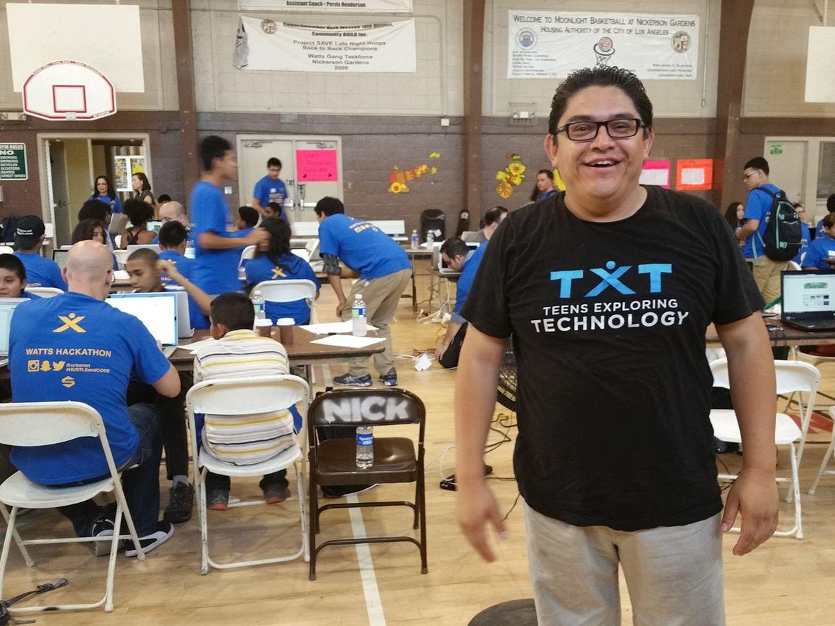 Teens Exploring Technology Founder Oscar Menjivar