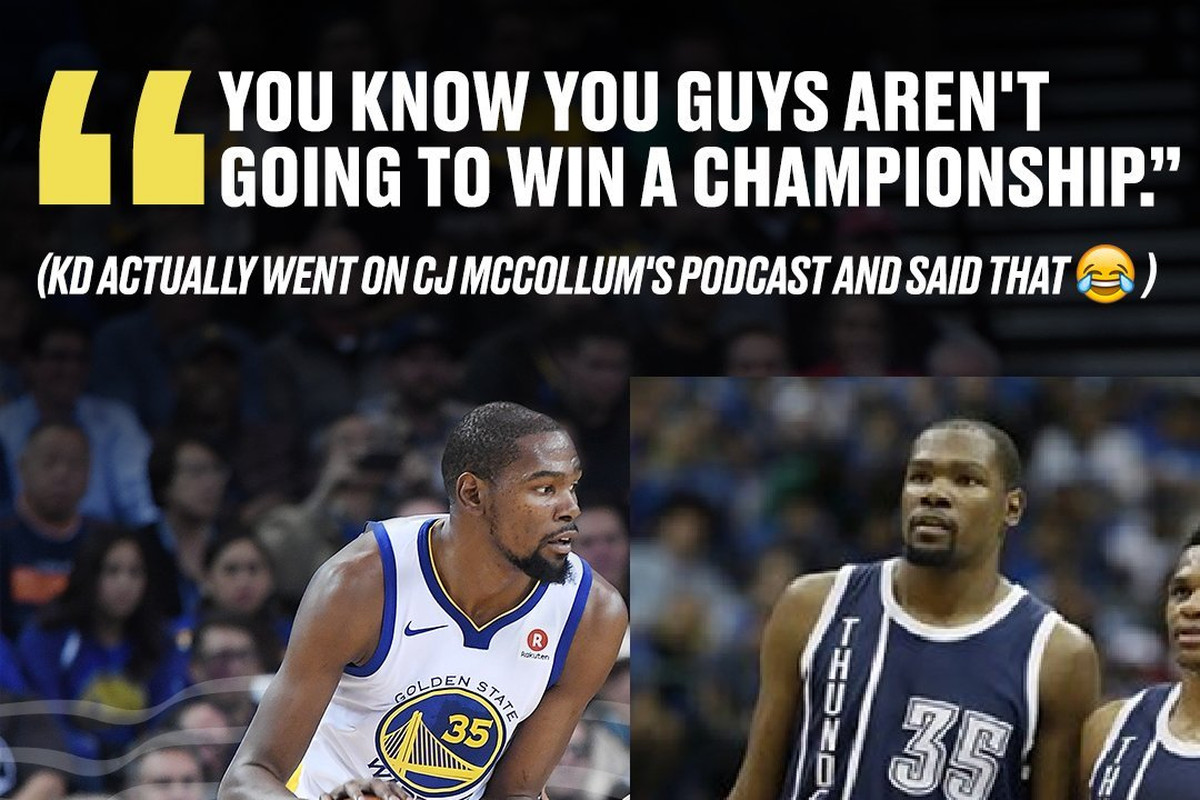 1911ed06830d Kevin Durant and C.J. McCollum playfully beef on Twitter - Golden ...
