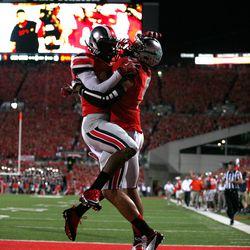 Ohio State celebrates a big play.