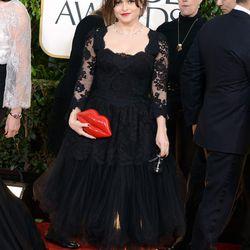 Helena Bonham Carter, true to form, wore something wacky