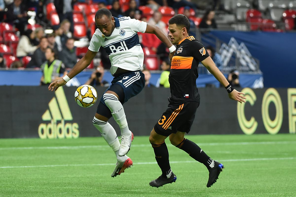 Late goal by Vancouver Whitecaps lifts them over visiting Houston Dynamo