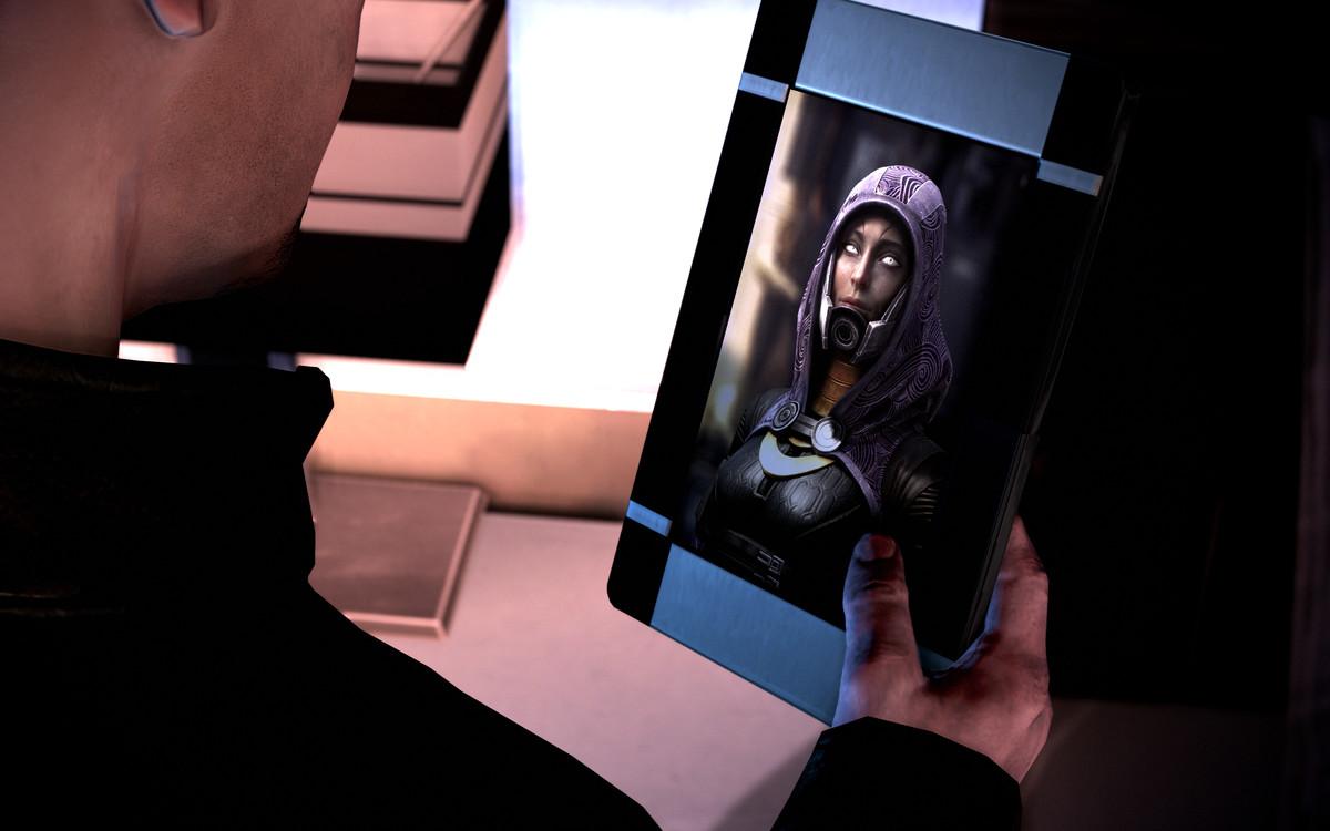 Tali'Zorah's maskless face in Mass Effect Legendary Edition