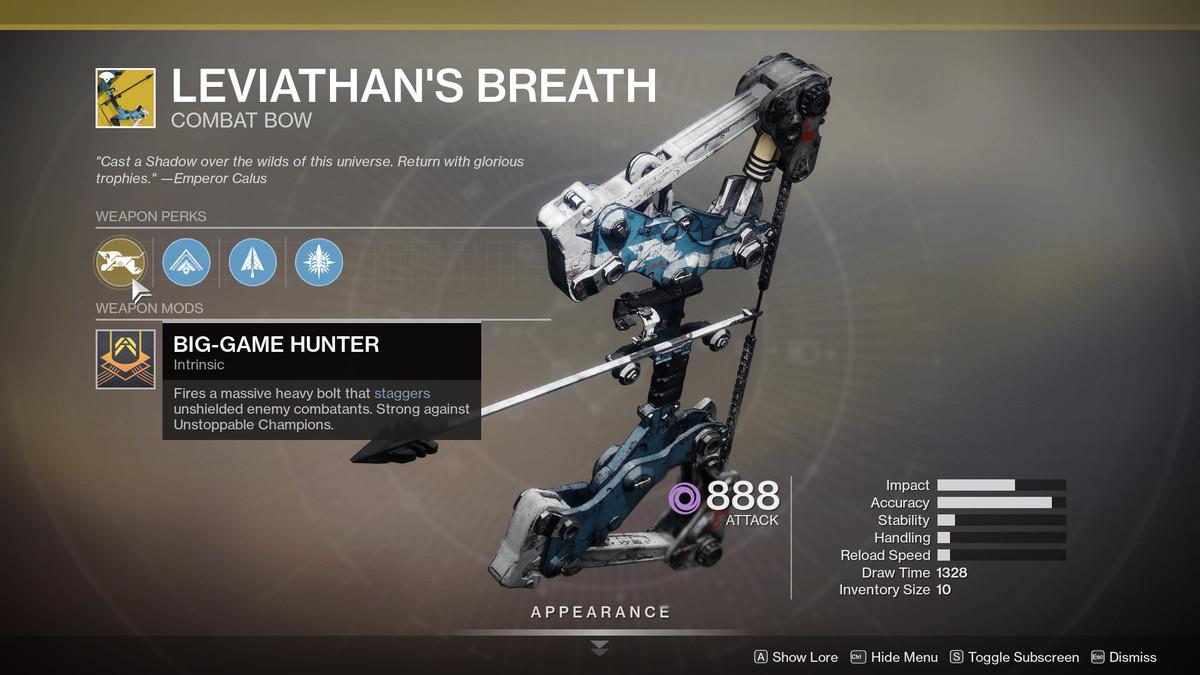 Leviathan's Breath Destiny 2