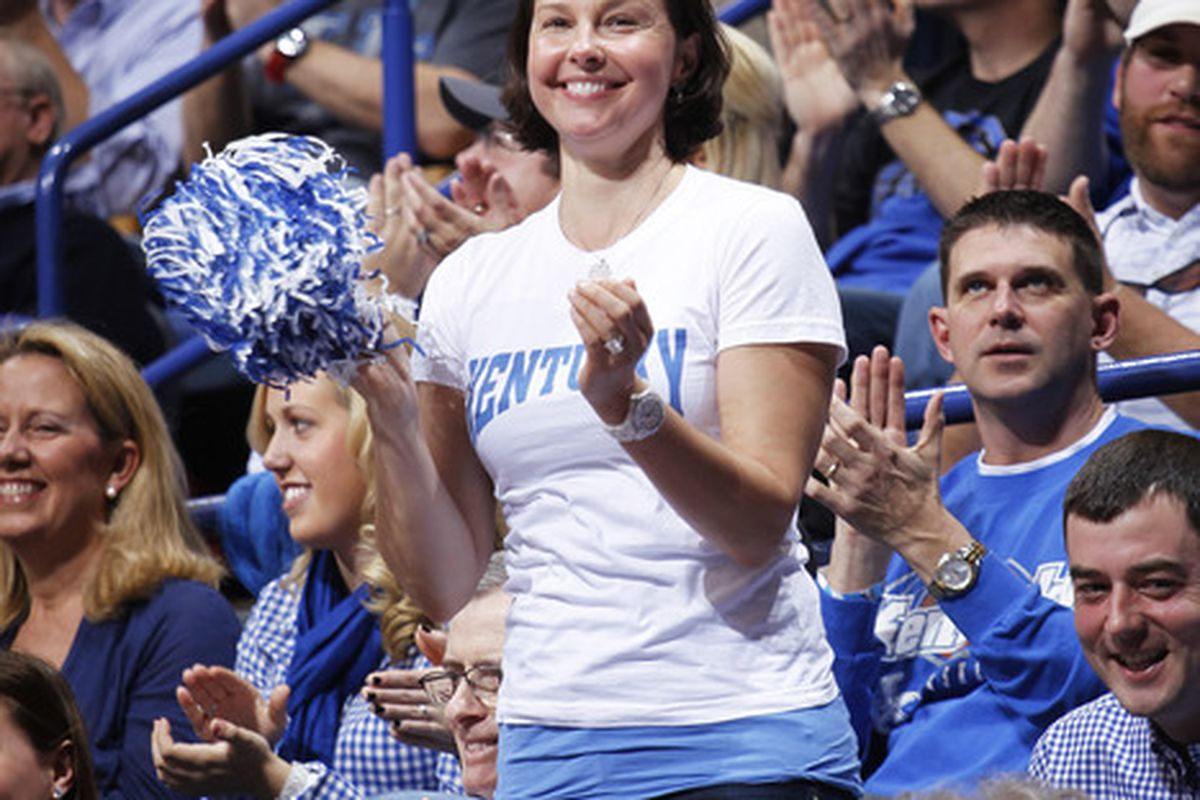 Ashley Judd celebrates with her brothers and sisters of the Big Blue Nation.