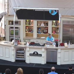 NYC chef April Bloomfield cooks on the Grand Tasting main stage. (Courtesy Raphael Brion)