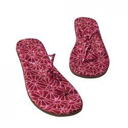 Women's Fan-Print Flip-Flops in Pink $12.99