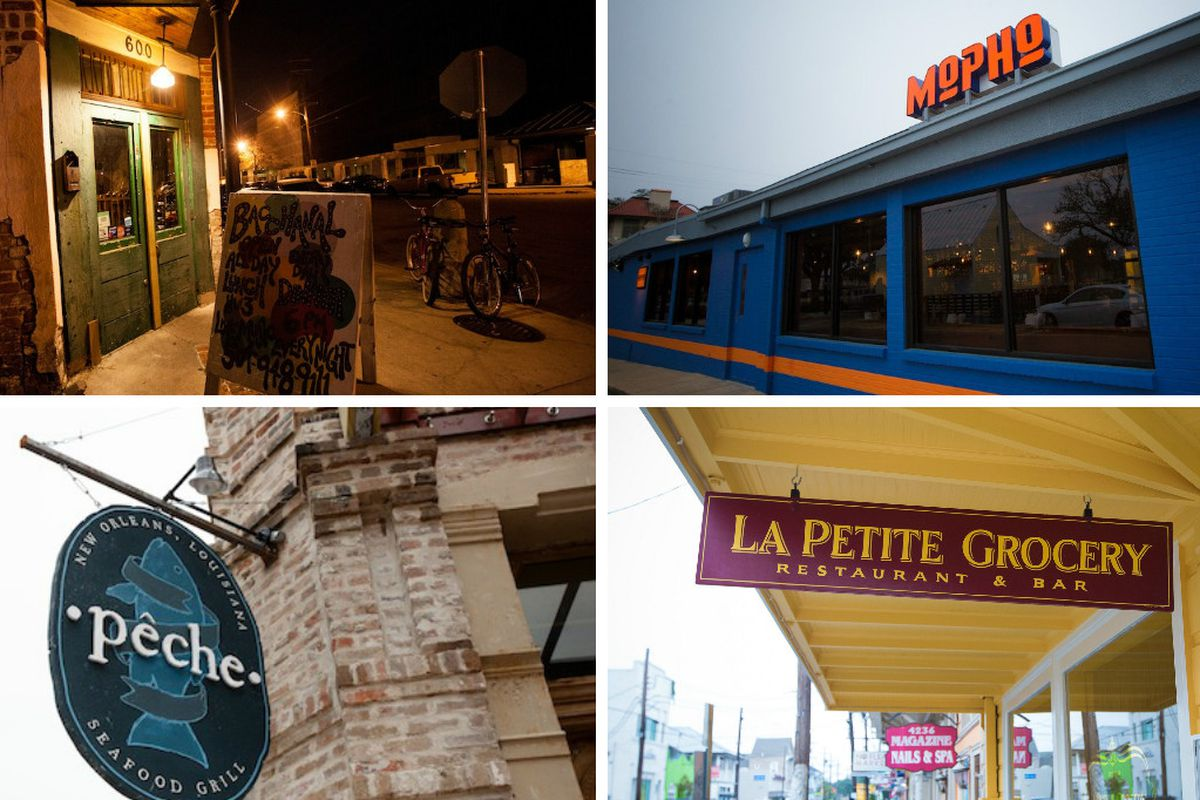 Look for Bacchanal, Mopho, La Petite Grocery, and Peche at Moonlight Market.