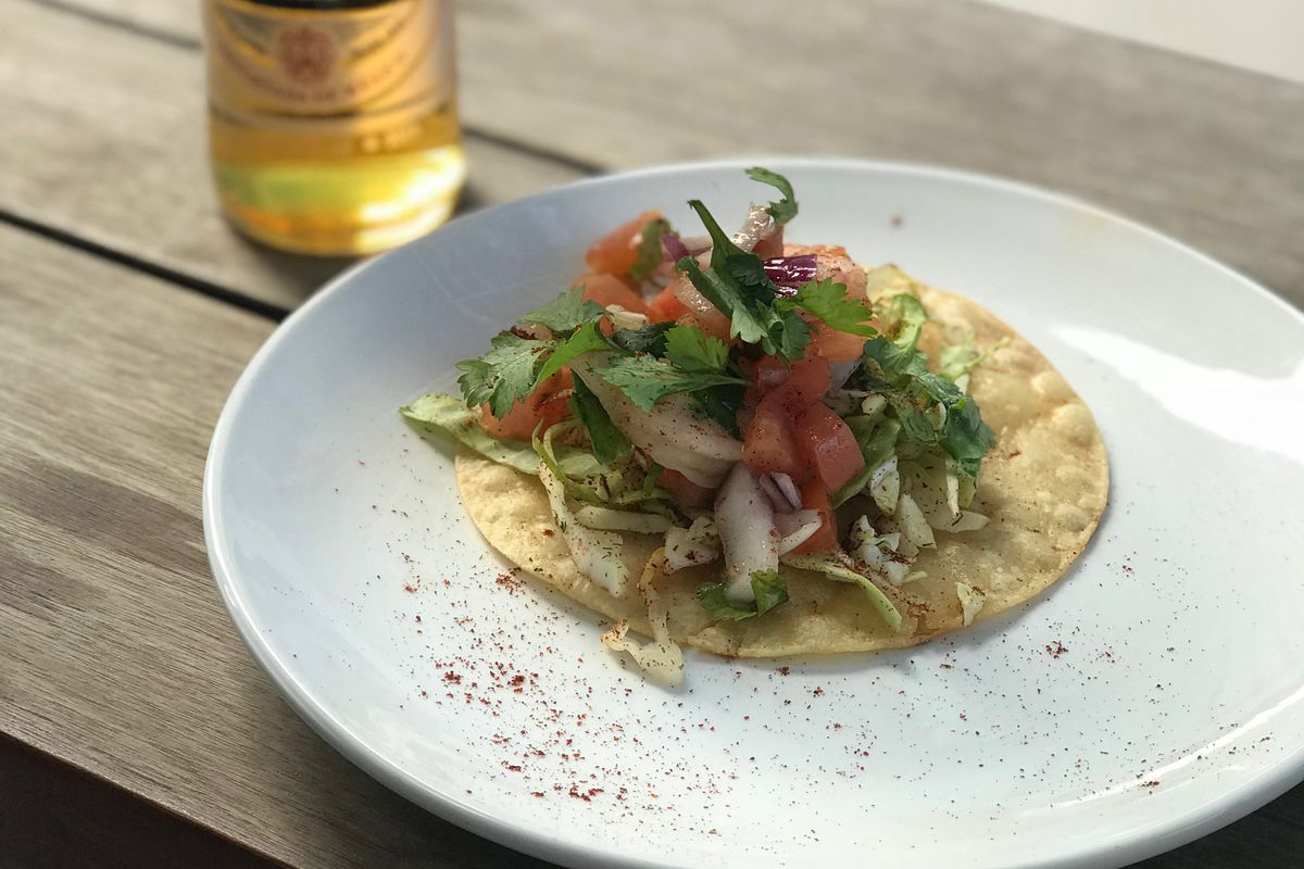 A breakfast taco from Nueces Kitchen and Bar