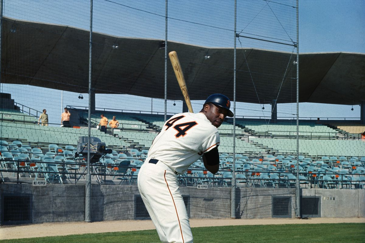 Willie McCovey in Batting Position
