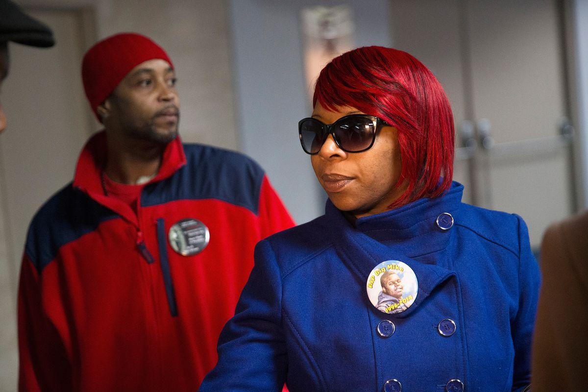 Michael Brown's mother and stepfather.