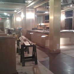 Construction work at Woodward Table.