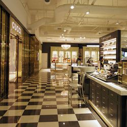 Cosmetics and accessories are housed on the department store's first level (the mall's second floor).