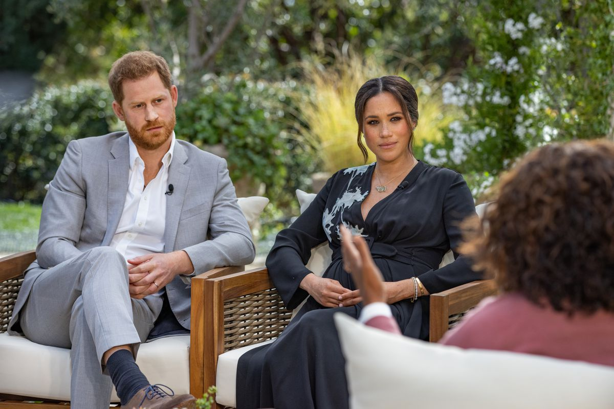 Prince Harry and Meghan Markle speak to Oprah in a CBS interview