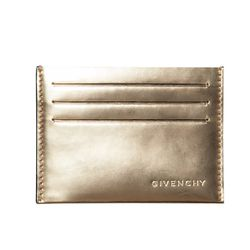 """Givenchy Metallic Card Holder (<a href=""""http://rsvpgallery.com/womens/givenchy-metallic-card-holder-gold.html"""">$105, down from $210</a>)"""