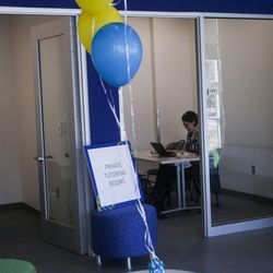 The private tutoring area of the Dumke Center for STEM Learning  at Salt Lake Community College in Taylorsville is pictured on Wednesday, March 1, 2017. The dynamic, new and collaborative space is located in the college's Science and Industry Building. The center staff is committed to preparing students to reach their full potential by providing tutoring services and hands-on workshops designed to help build self-confidence, expand critical-thinking skills and become lifelong active learners.