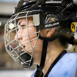 Buffalo Beauts forward Rebecca Vint during a NWHL game on Dec. 16th, 2017 versus the Connecticut Whale at HarborCenter in Buffalo, NY.