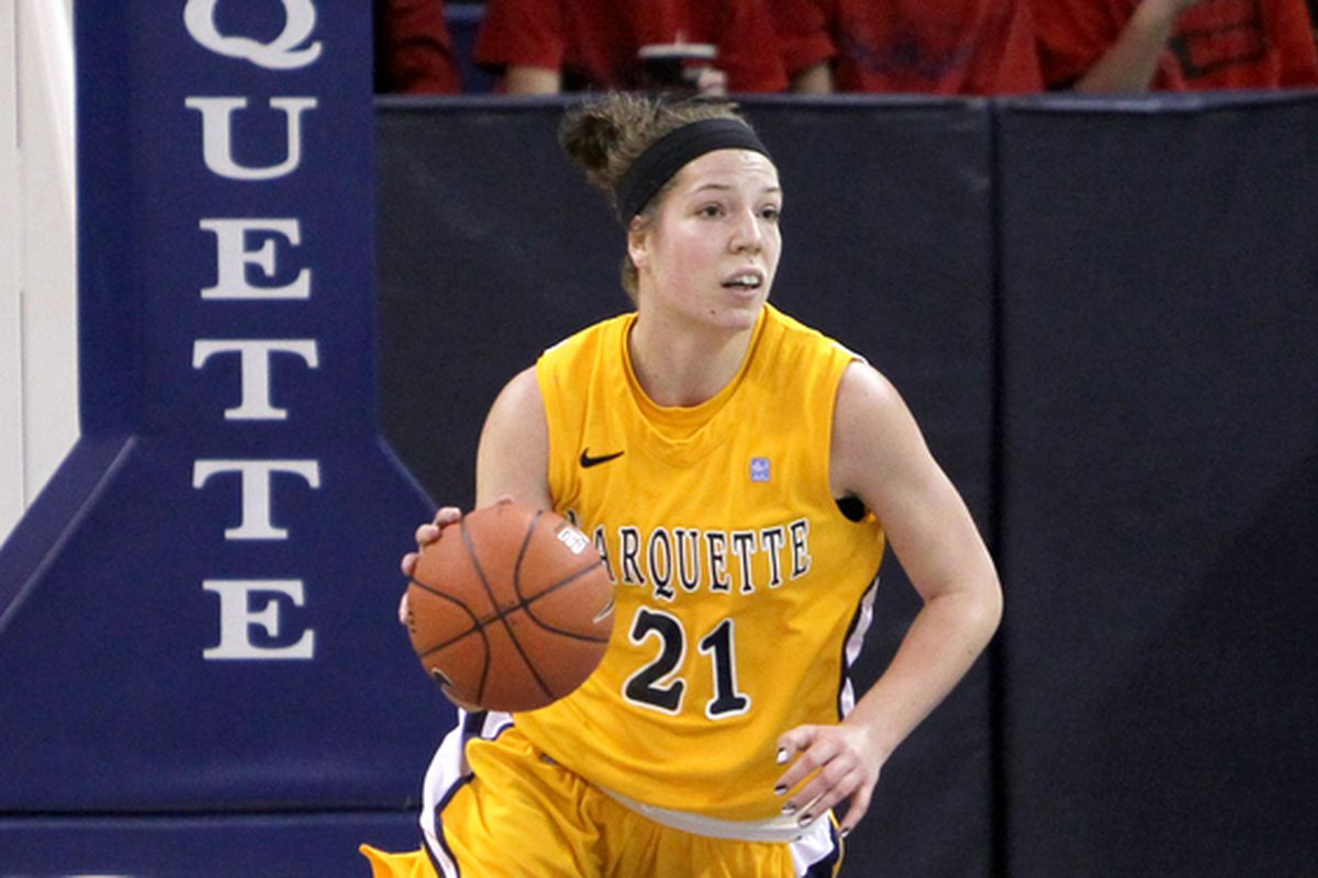 Katherine Plouffe quietly passed 1,000 career points when she exploded in the second half for 20 points.