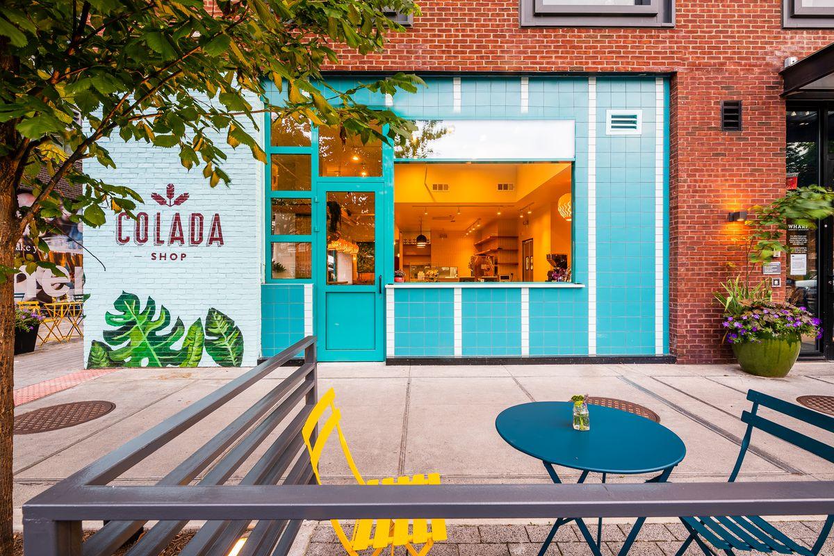 The front facade of Colada Shop at the Wharf