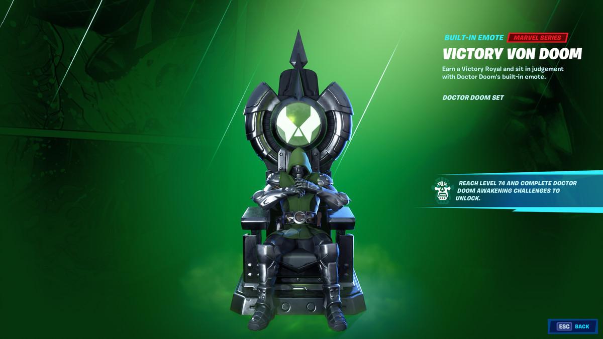 Fortnite's Doctor Doom emote