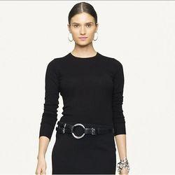"<a href=""http://www.ralphlauren.com/product/index.jsp?productId=13246825&cp=2943768.1766601&ab=ln_nodivision_cs7_sweaters&parentPage=family"">Ralph Lauren Black Label cashmere crewneck sweater</a>, on sale for $191.25 (originally $375)"