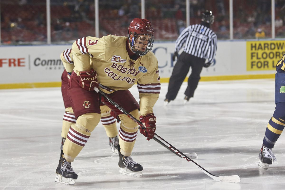 Ian McCoshen scored the game-winning goal to send BC to the Frozen Four.
