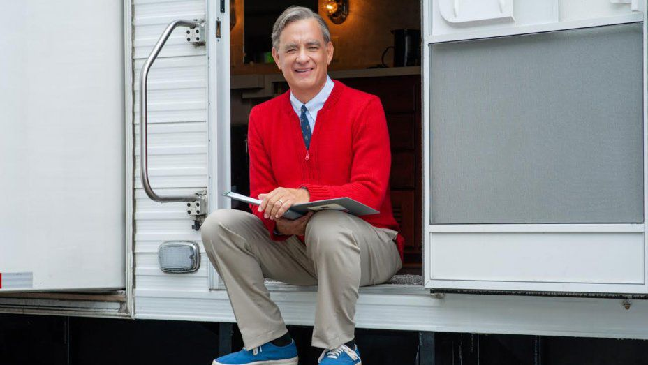 Tom Hanks plays Fred Rogers (aka Mister Rogers) in A Beautiful Day in the Neighborhood, out in October.