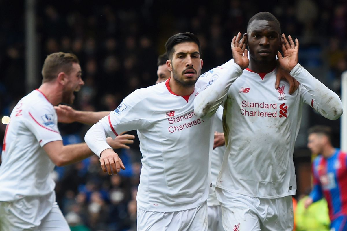 Emre Can is always the first guy to join a goal celebration.