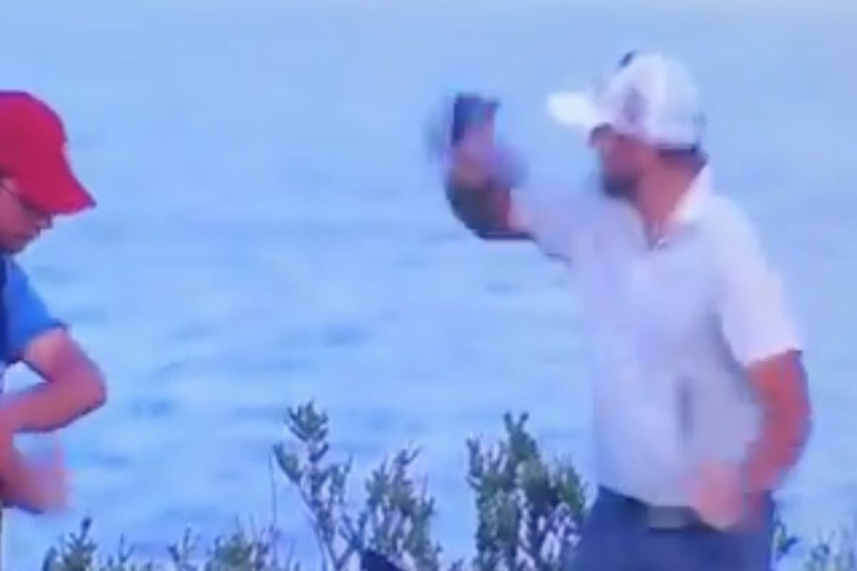 Watch Angry Golfer Throws Head Cover At Caddie Who Cost Him