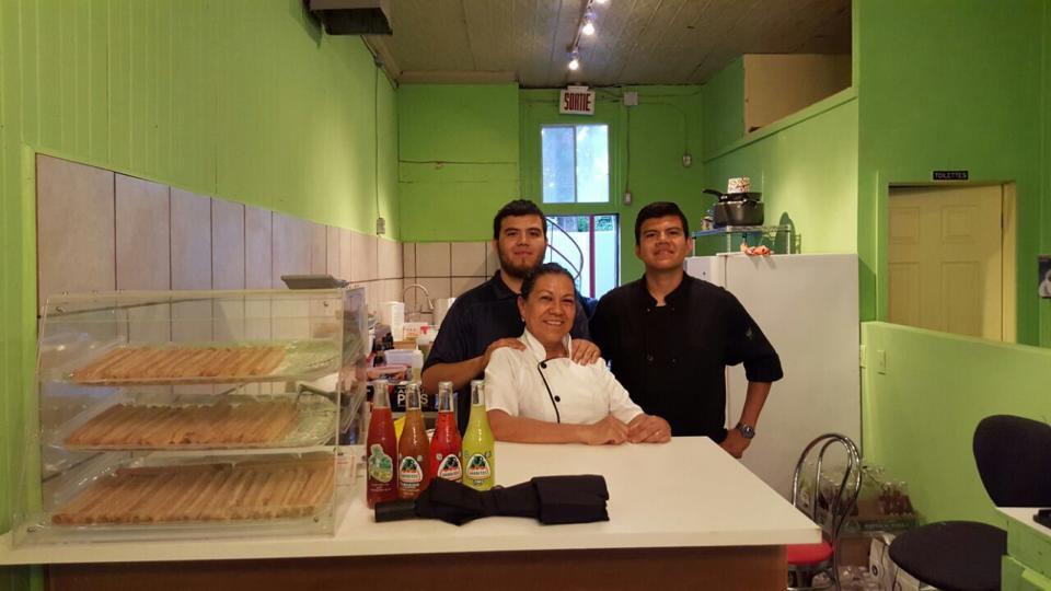 Aurora Morales and her sons Enrique and Hugo [Photo: Café Frida]