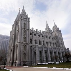 The Salt Lake Temple, which will close Dec. 29 for extensive renovations, is photographed in Salt Lake City, Wednesday, Dec. 4, 2019.