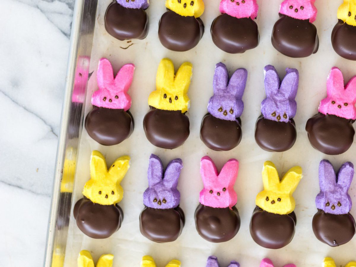 Chocolate dipped Peeps from Compartés Chocolatier.