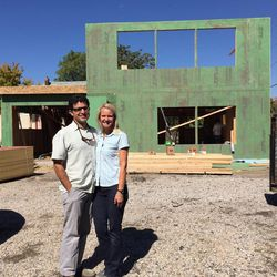Mitchell Spence and Tiffany Ivins, net-zero builders.