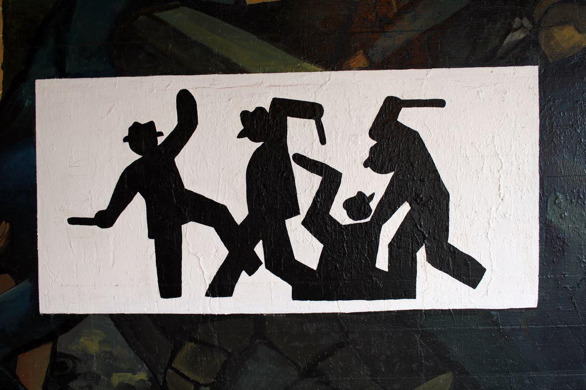 Police brutality illustration