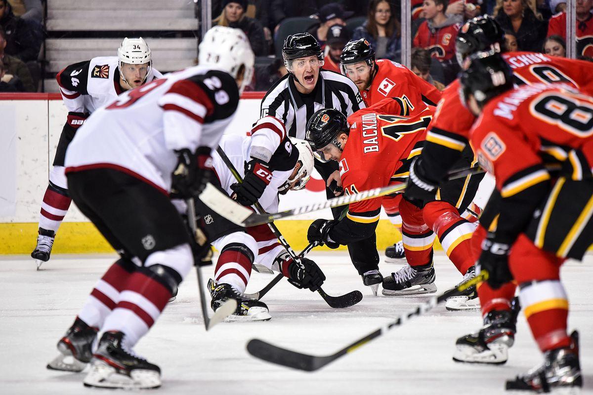 NHL: MAR 06 Coyotes at Flames