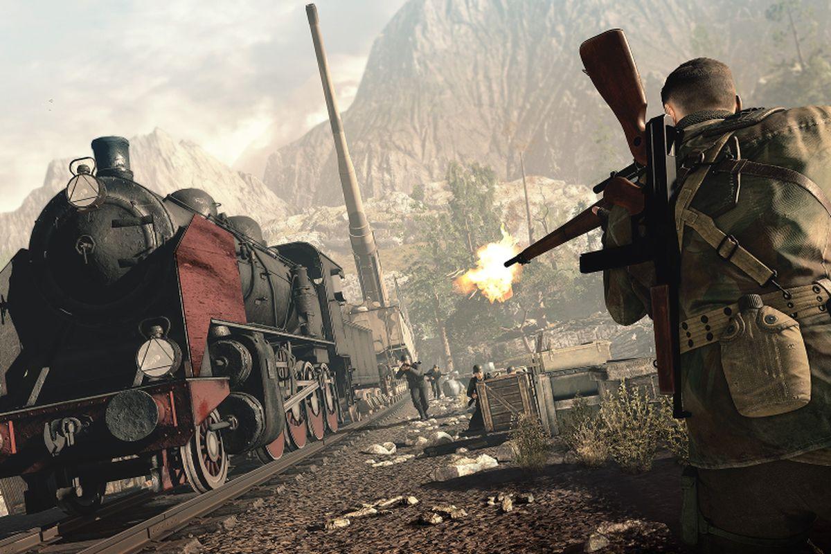 sniper elite 4 train