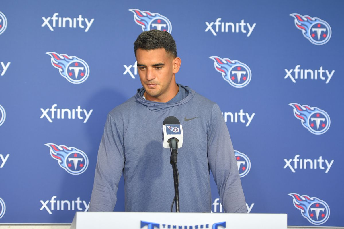 a083021d Everything Titans' QB Marcus Mariota said today to open Training ...
