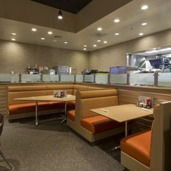 More seating at Denny's.