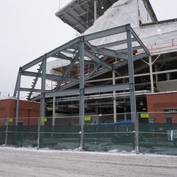 Another view of the construction at Gate J/K