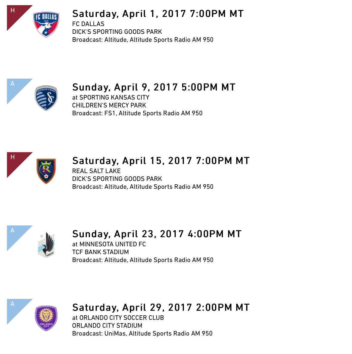 three takeaways from the rapids 2017 schedule - burgundy wave