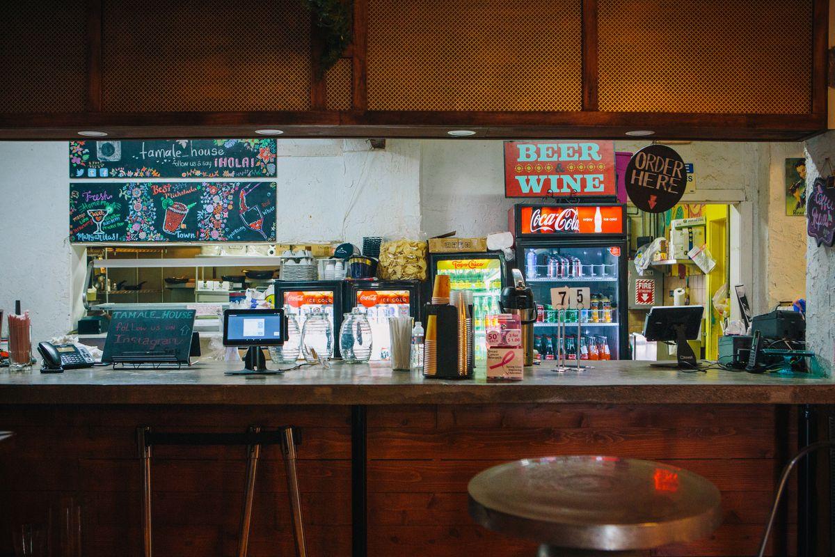 A peek inside the kitchen ofTamaleHouseEast