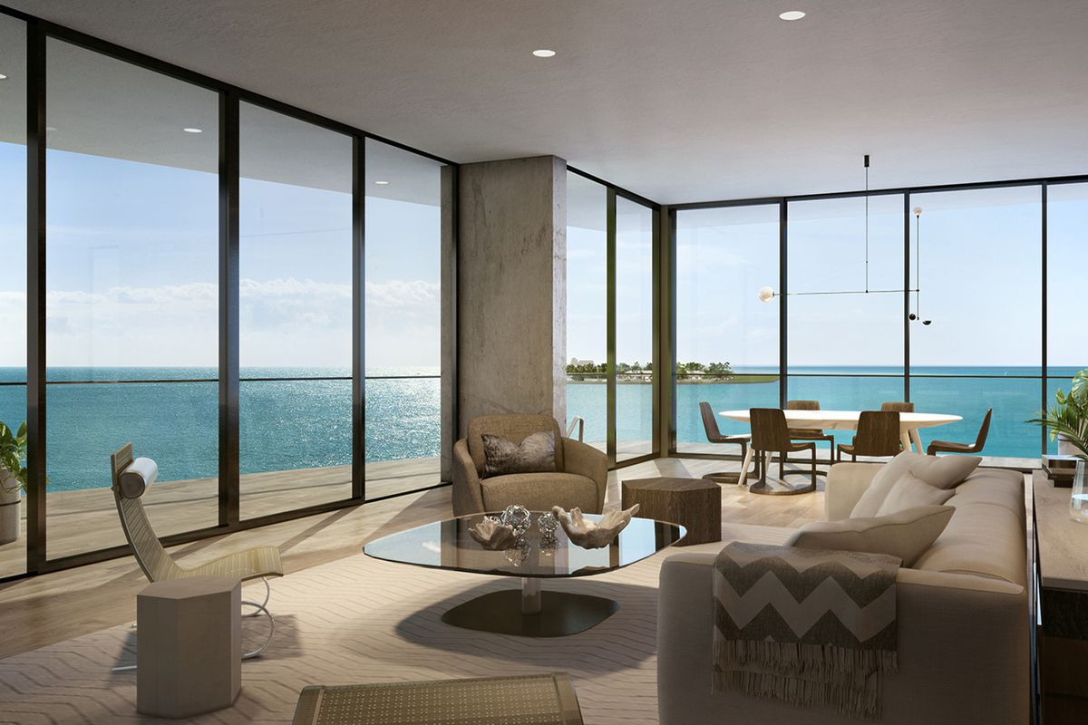 Rendering of a Fairchild Coconut Grove penthouse