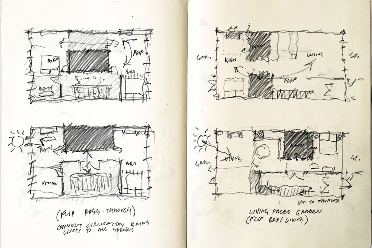 Traditional brownstone in brooklyn heights with contemporary - Sketches For Prospect Heights Brownstone Renovation Courtesy Of Buck Projects