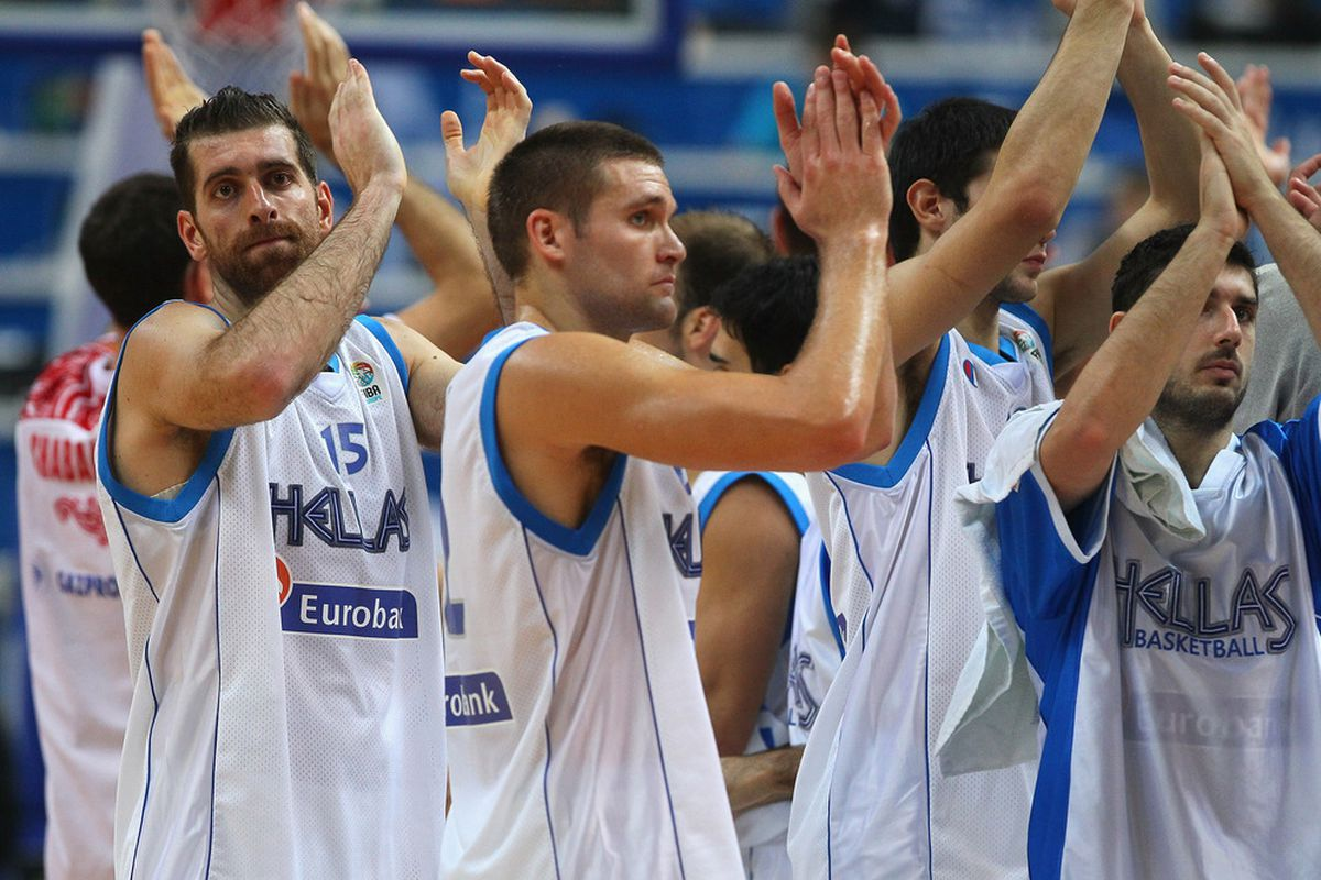 The normally strong Greek team was taken out by the athletic Nigerians, despite some killer play from Vassilis Spanoulis.