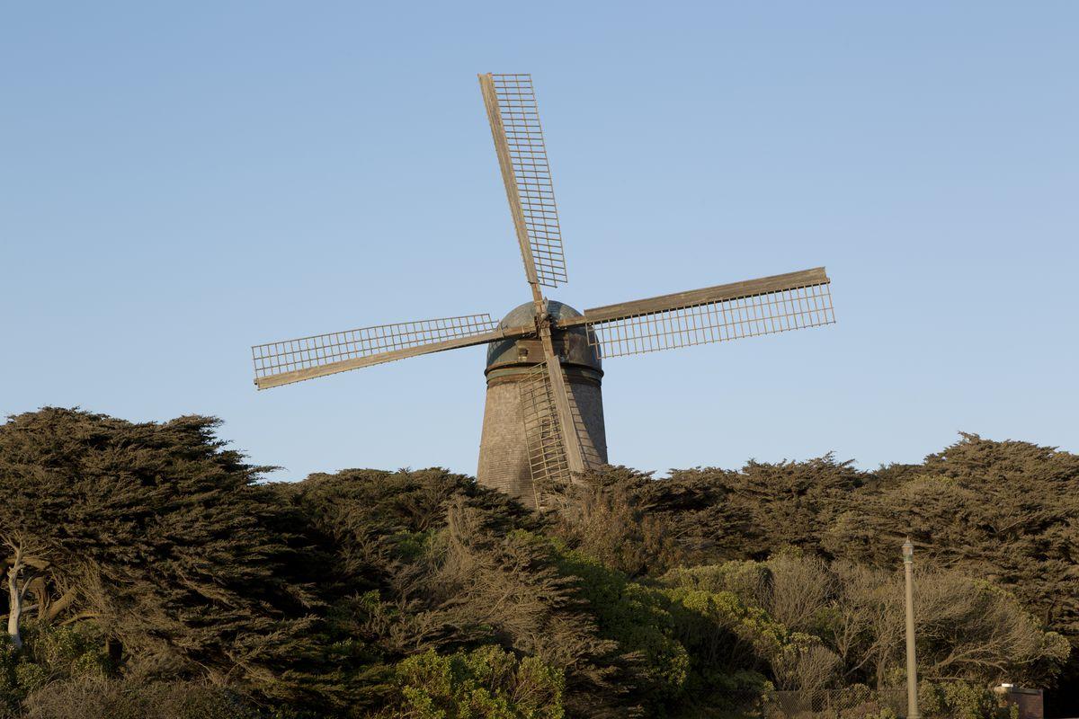 Dutch-style windmills, Golden Gate Park, San Francisco, California
