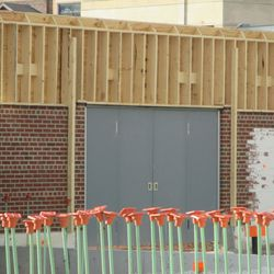 The new double doors in right field -