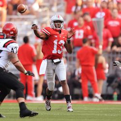 Kenny Guiton delivers the throw.